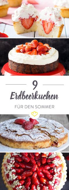 Erdbeeren machen sich einfach super im Kuchen: ob mit cremigem Pudding, in sahnigen Cupcakes oder als Krönung für verrückte Käsekuchen-Kreationen.
