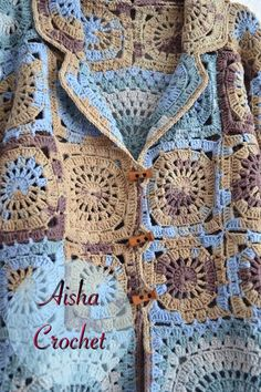 VK is the largest European social network with more than 100 million active users. Crochet Coat, Form Crochet, Crochet Blouse, Crochet Motif, Crochet Clothes, Crochet Patterns, Granny Square Projects, Beautiful Crochet, Knitting Needles