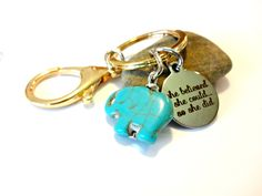 Elephant Keychain Graduation Gift She Believed She Could