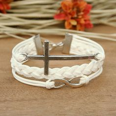 cross and infinity bracelet
