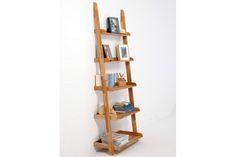 Home :: Storage Furniture :: Leaning Furniture :: Oak Wide Ladder Shelf