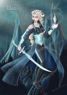 Elsa the Frozen warrior by Arrietart on DeviantArt
