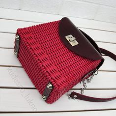 Upcycled Crafts, Saddle Bags, Hand Weaving, Woven Bags, Handmade, Journaling, Hand Bags, Knit Bag, Bags