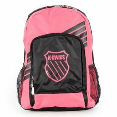 K- Swiss Sport Pop Neon Pink Backpack by K-Swiss. $30.00. dle Screen printed graphics add style. Order Today Ships Today Before 2PM CST. The KSwiss Sport Pop Backpack is water repellent to protect your gear from light rain and moisture T. h paneling for quick storage of small items Carry easily with adjustable backpack straps and top ha. his versatile backpack features two main compartments as well as organizational pockets and side me. The KSwiss Sport Pop Backpack is water r...