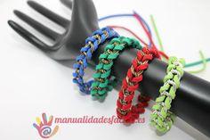 Pulsera facil de cordón y cadena