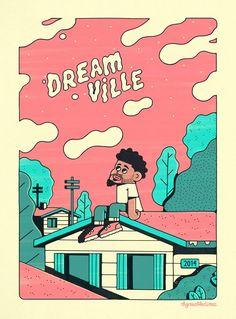 J cole Dreamville 2014 Forest Hills Drive art