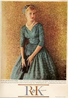 R Originals 1958 - I love this dress - gorgeous with a 3/4 sleeve.