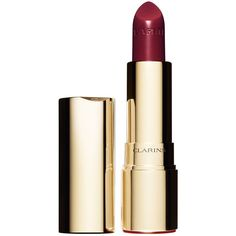 Clarins Joli Rouge Moisturizing & Long-Wearing Lipstick (€24) ❤ liked on Polyvore featuring beauty products, makeup, lip makeup, lipstick, deep red, moisturizing lipstick, long wearing lipstick, clarins lipstick, long wear lipstick and clarins