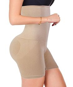 c42009257 FUT Womens Shapewear Tummy Control Shorts High-Waist Panty Mid-Thigh Body  Shaper Bodysuit