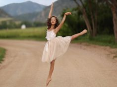 Young girl dances beautifully.