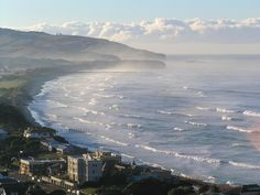 St. Clair, Dunedin, New Zealand - with St. Kilda in the middle distance and part of the Otago Peninsula beyond