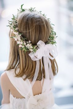Flower Girl Crown #saintalgue #inspiration #mariage #douceur #romantisme…