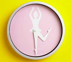 Ballerina Wall Clock | 30 Wall Clocks. Though I'm wondering about ow noon looks...or even 11:00...