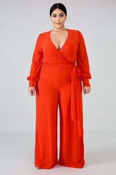 Plus Size Jumpsuit, Red Jumpsuit, Palazzo Jumpsuit, Jeans Jumpsuit, Plus Size Girls, Plus Size Fashion For Women, Curvy Girl Fashion, Chiffon Fabric, Well Dressed