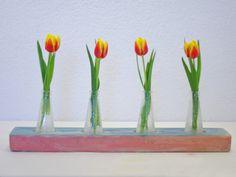 Vasen - Buntes Treibholz für Flaschen als Vasen nachhaltig - ein Designerstück von SchlueterKunstundDesign bei DaWanda