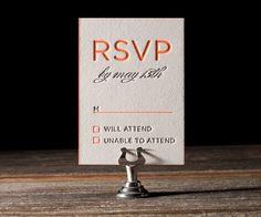 Letterpress Wedding Invitations   Modern Basel Design   Bella Figura Letterpress