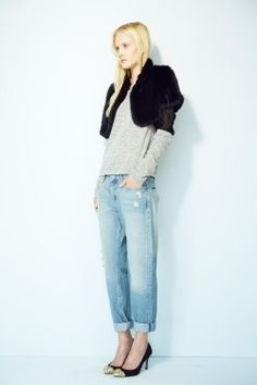 Felicity Long Hair Rabbit Knitted Shrug avail on www.shopjocelyn.com #fur