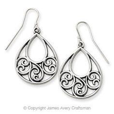 Gentle Wave Ear Hooks from James Avery