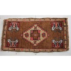 This vintage Yastik rug has fun & beautiful colors. The Iban is an authentic handwoven vintage Turkish rug that is slightly distressed but in great condition for its age. The fun colors give it a twis