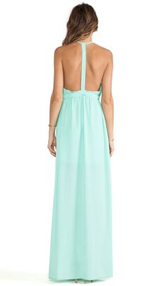 mint maxi-GORG back of the dress!
