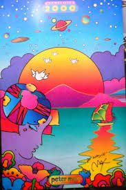 Peter Max - profile at sunset