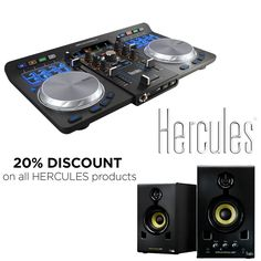 Do you love music? 🎵 Don't miss our GREAT OFFER 20% OFF ON ALL HERCULES PRODUCTS