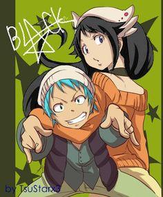black star and Tsubaki. Soul eater