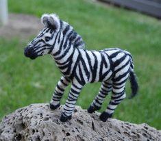 needle felted zebra, spirit animal energy art