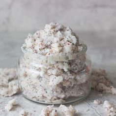 Whipped Coconut Sugar Black Tea Scrub  1 1/2 C Sugar  1 C  Coconut Oil  2 TB black tea   Whip together. Store in air tight container.