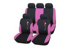 CAPA PARA BANCO DE CARRO ROSA FLORAL PINK - Acessórios para Carro Feminino