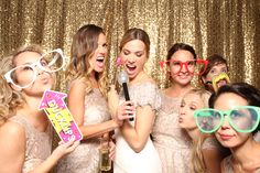 Gold Sequin back drop at our photo booth Ottawa On
