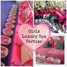 Luxury Children's Spa Parties for kids and tweens in London with #grumpybutgorgeous the luxury girls spa party includes: Spa Robes Face Mask and Cucumbers Individual Foot Spas Foot Scrub Hand & Arm Massage Foot & Leg Lotion French Polish or Nail Art on Fingers Twinkle Toes Mini Facial (Face Massage) Shoulder Massage Head Massage Magazines