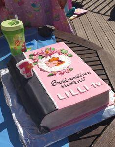Nalle Puh kakku, 1 vuotis kakku, kirjakakku, book cake, 1vee kakku