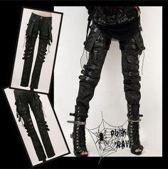 Unisex Cool Goth PUNK visual kei Rock belt trousers pants S M L XL XXL FREE SHIP   eBay