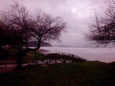 05/03/14: La playa de Berria después de otra noche de temporal.