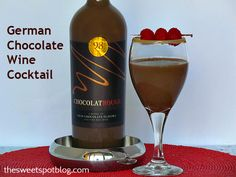 German Chocolate Wine Cocktail... Hmmm something new to try fri Christmas:-)