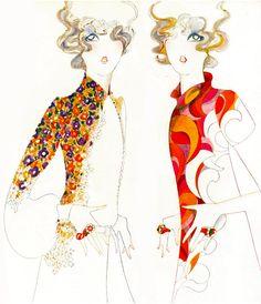 Illustration from Vogue UK, 1967.