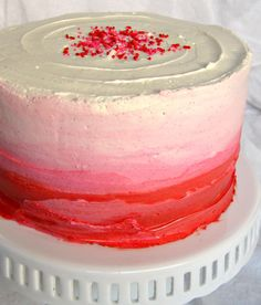Pink Vanilla Ombre Cake  The Holiday Kitchen