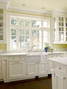Awesome Kitchen Window With Glass Cabinet Doors On Upper Beside · Glass CabinetsWhite  CabinetsUpper ... Part 21