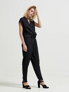 SHORT SLEEVED - JUMPSUIT, Black, large