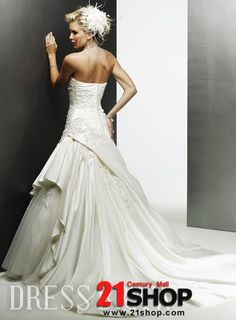 Strapless Wedding Dresses Chapel Train  Tail