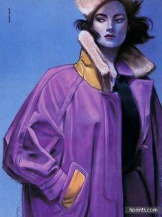 Hermès (Couture) 1985 Thierry Bruet Fashion Illustration