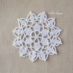 Crochet lace motif nr 6 by Anabelia.like to blend these into my handmade flowers. Crochet Circles, Crochet Doily Patterns, Crochet Chart, Crochet Squares, Thread Crochet, Crochet Designs, Crochet Doilies, Crochet Flowers, Crochet Stitches