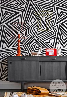 Lovely zig zag wall mural.  from PIXERSIZE.COM