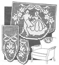 Filet Crochet Chair Set Dancing Couple Pattern