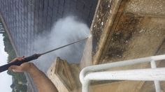 150 Degree Steam cleaning parapet in Bath from purple-rhino.co.uk