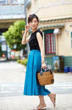 カラースカートを大人っぽく着こなした休日スタイル9#Travel #coordinate #旅行 #コーデ