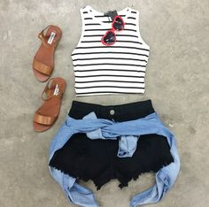 Stripe It Out Crop Top – The Rage