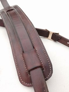 Vintage style genuine leather guitar strap Dark by McPhersonGoods