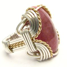 Handmade Wire Wrap Sterling Silver/14kt Gold Filled by JandSGems,